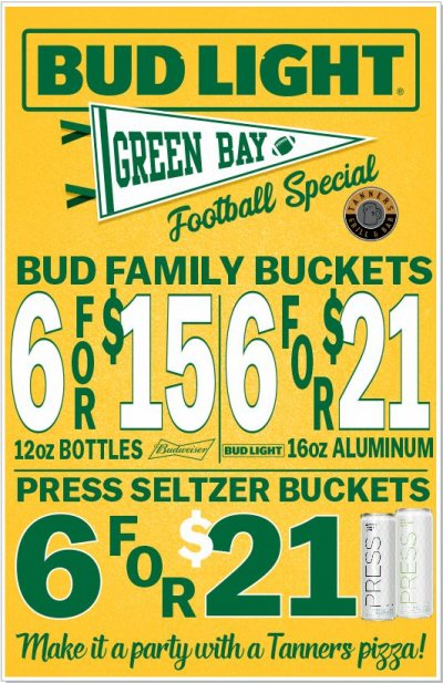 Packer Game Bud Specials